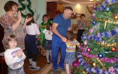 Рождественские посиделки с родителями